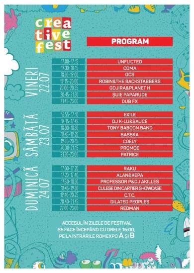 Flyer program Creative Fest