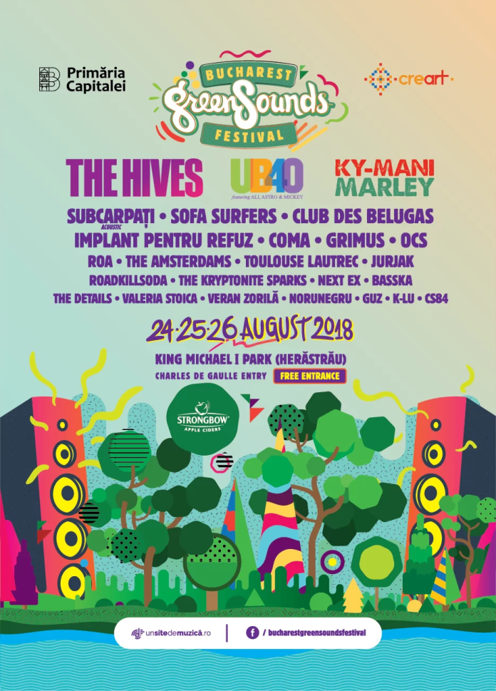 Ky-Mani Marley, UB40 - Ali, Astro și Mickey, The Hives la BUCHAREST GreenSounds FESTIVAL