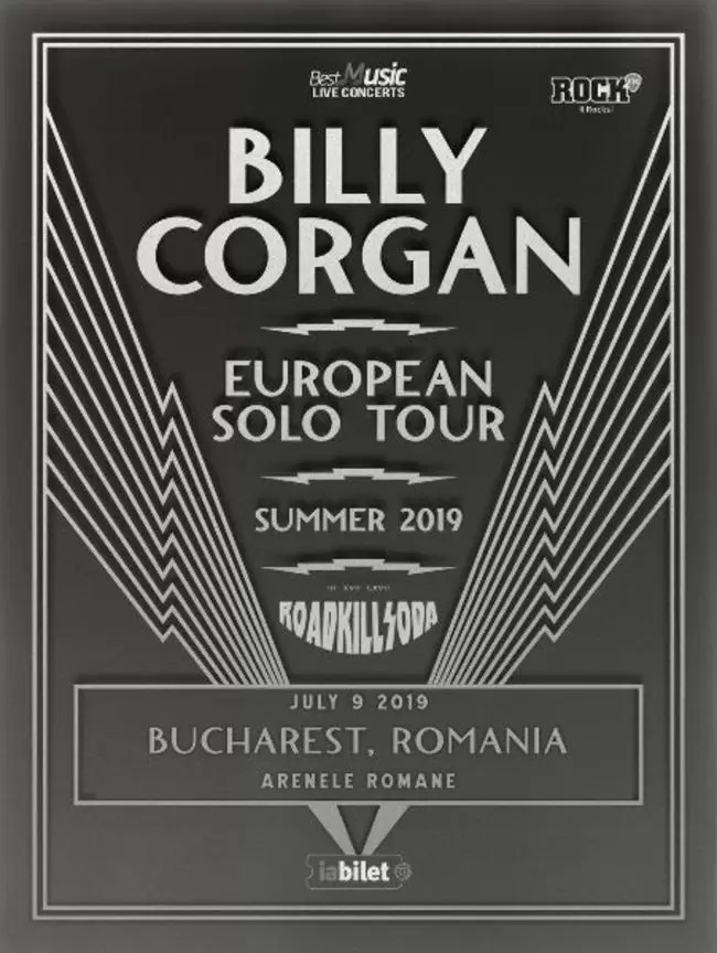 afiș Billy Corgan Arenele Romane