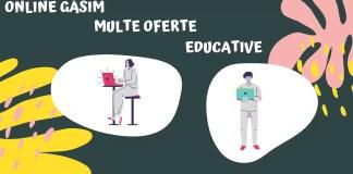 5 platforme educative, curs online afiș