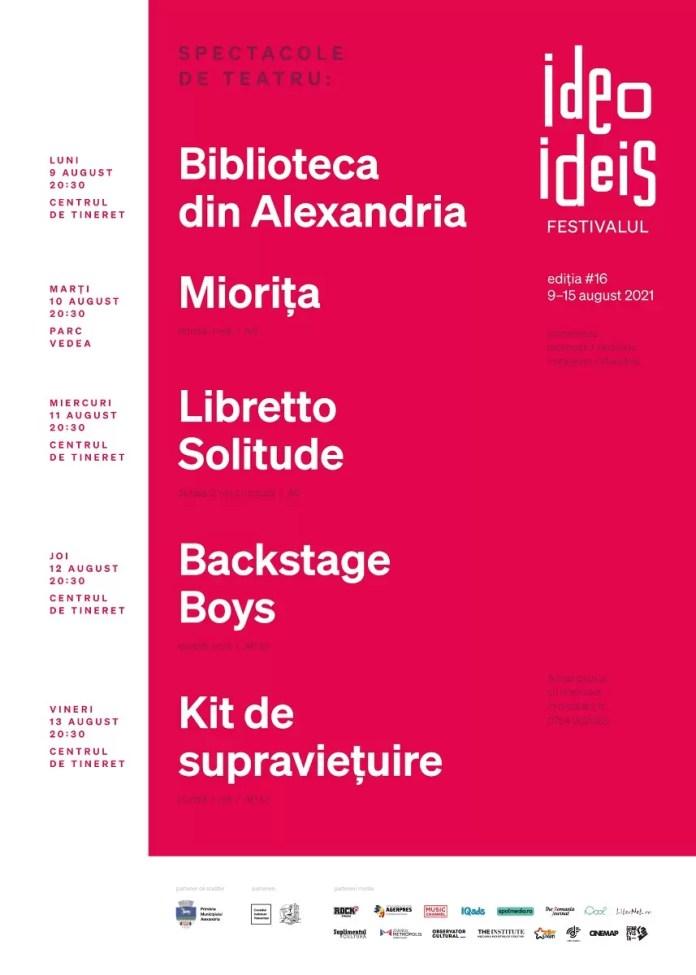 program spectacole Ideo Ideis #16