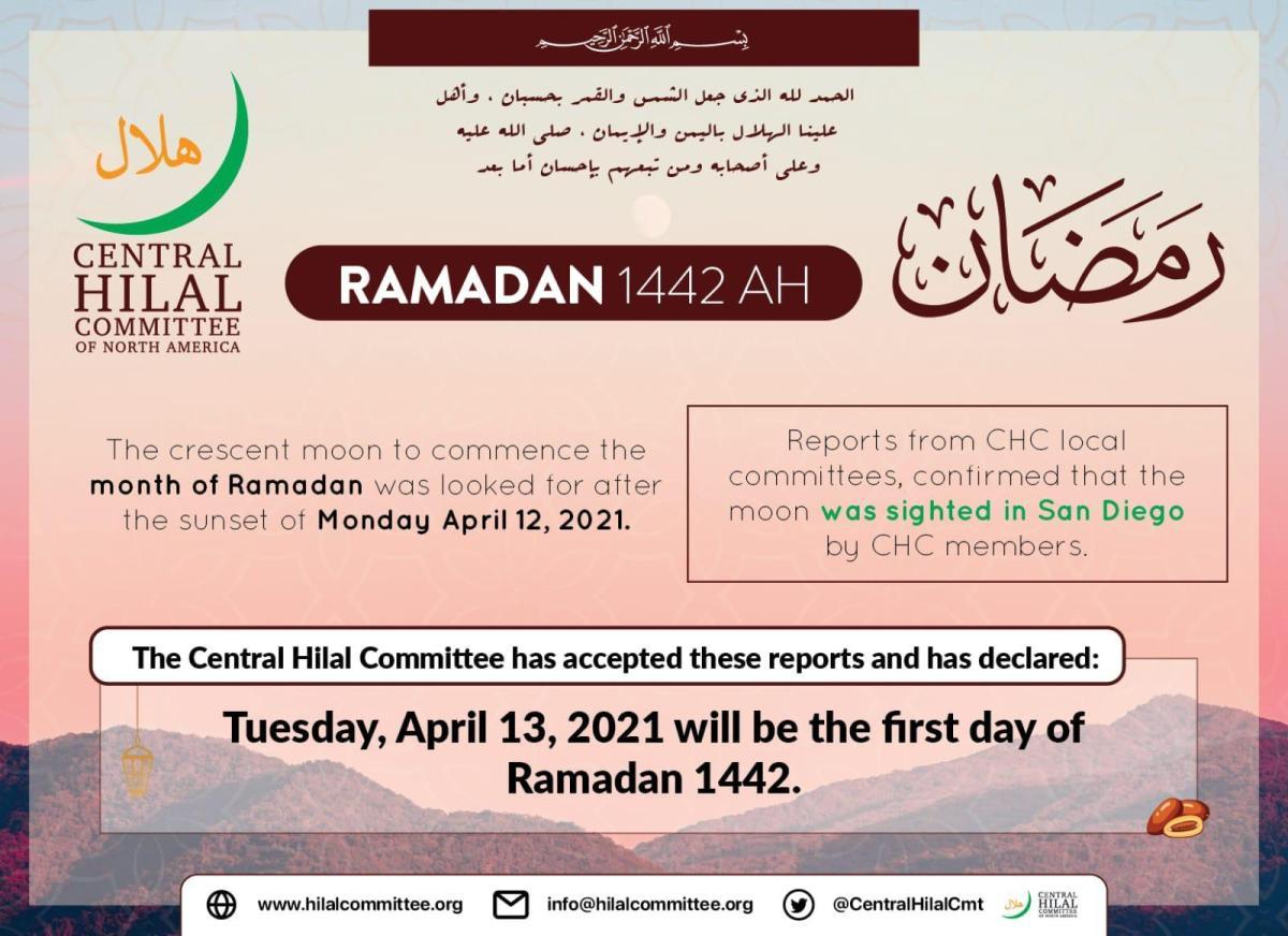 Ramadan 2021 Announcement