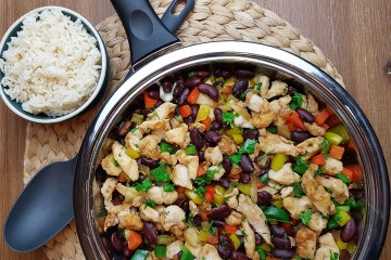 Low Carb Chicken Fajita Pfanne