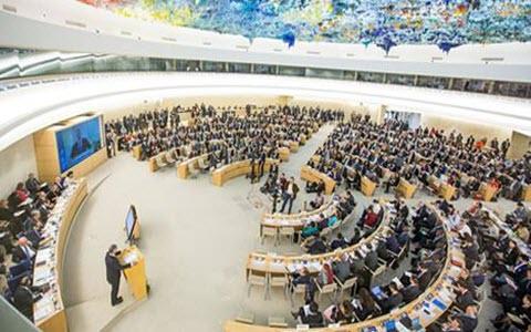 U.N. mänskliga rättigheter sessioner, förövarna av 1988 massaker av 30.000 politiska fångar i Iran