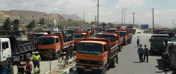 Iranska regimen hotar de strejkande lastbilschaufförer till avrättningar