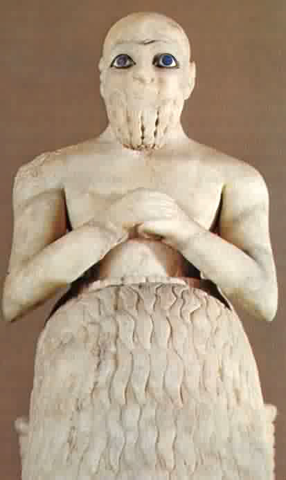 Sumerian Statue - Blue Eyes