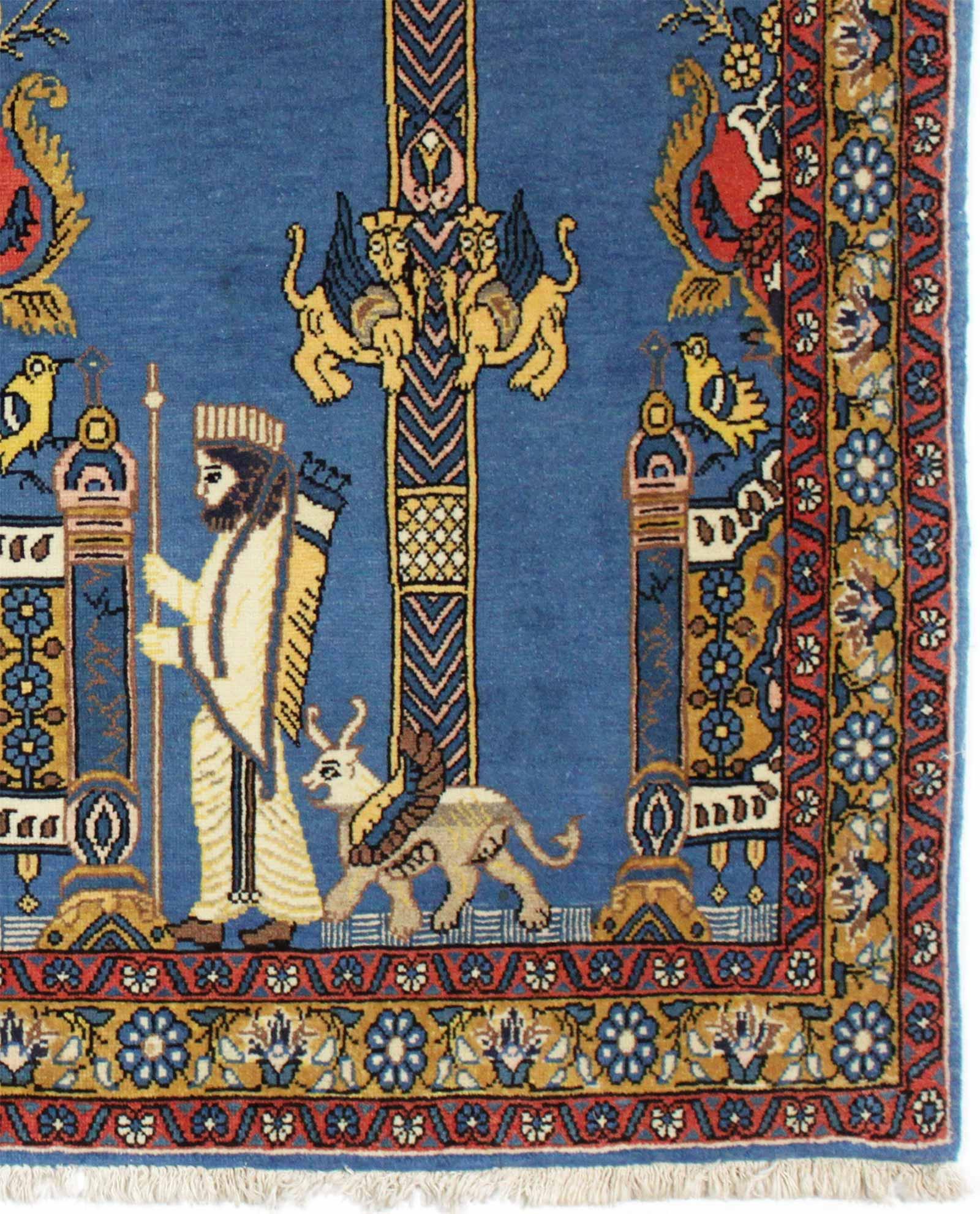 tapis persan semnan ancien 11372