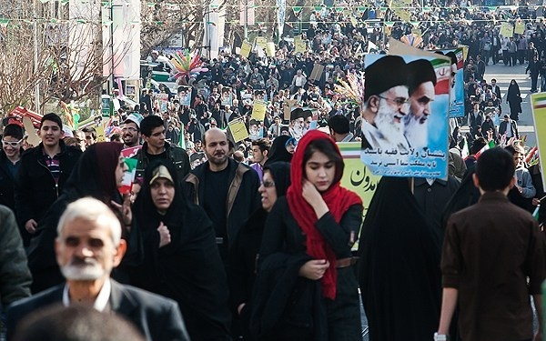 Iranians Marking the anniversary of 1979 Islamic Revolution. (Photo Credit:Saeed Karimi Nejad/Fars)