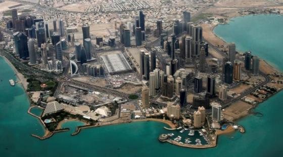 An aerial view of Doha's diplomatic area, Qatar . Photo: REUTERS