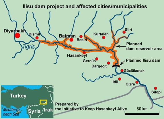 Image result for ilisu dam map