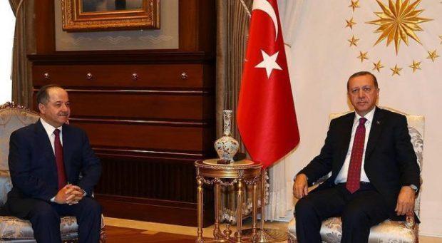 بارزاني يلتقي اردوغان في انقرة