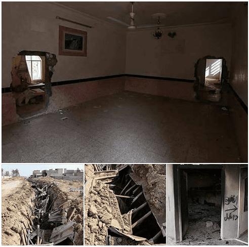 """""""بالصور"""" العثور على أطول نفق لداعش بطول 140 كلم في """"طوب زاوة"""" بالحمدانية في الموصل"""
