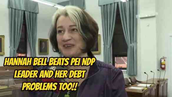 licensed insolvency trustee hannah bell pei bio hannah bell pei hannah bell green party hannah bell green hannah bell charlottetown hannah bell beats pei ndp leader financial woes of hannah bell financial woes debts CRA Consumer Proposal Canada Revenue Agency best bankruptcy alternative bankruptcy alternative Bankruptcy