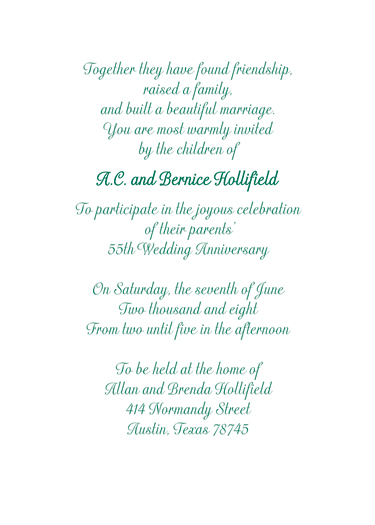 Sample Online Wedding Invitation