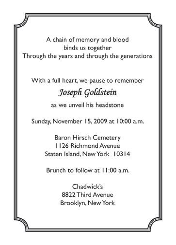 Tombstone unveiling invitation cards paperinvite tombstone unveiling invitation words examples fieldstation co altavistaventures