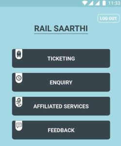 Rail Saarathi Mobile Application