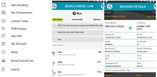 IRCTC Ola Booking Services