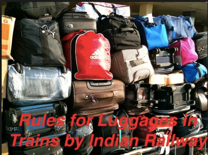 Luggage Rule in Trains by Indian Railway