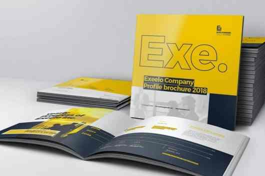 Square Company Profile Brochure Template