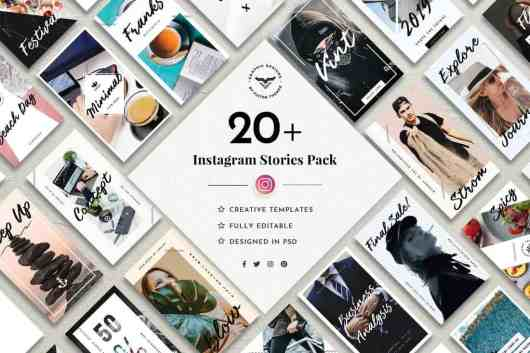 20+ Instagram Stories Templates