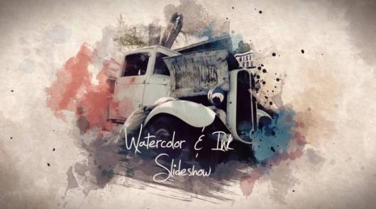 watercolor ink-adobe-after-effects-template