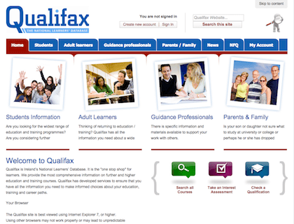 qualifax post leaving cert certificates