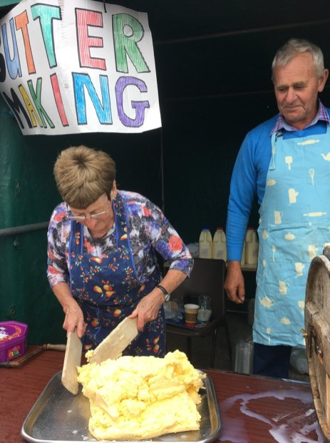 Traditional Butter making demonstration