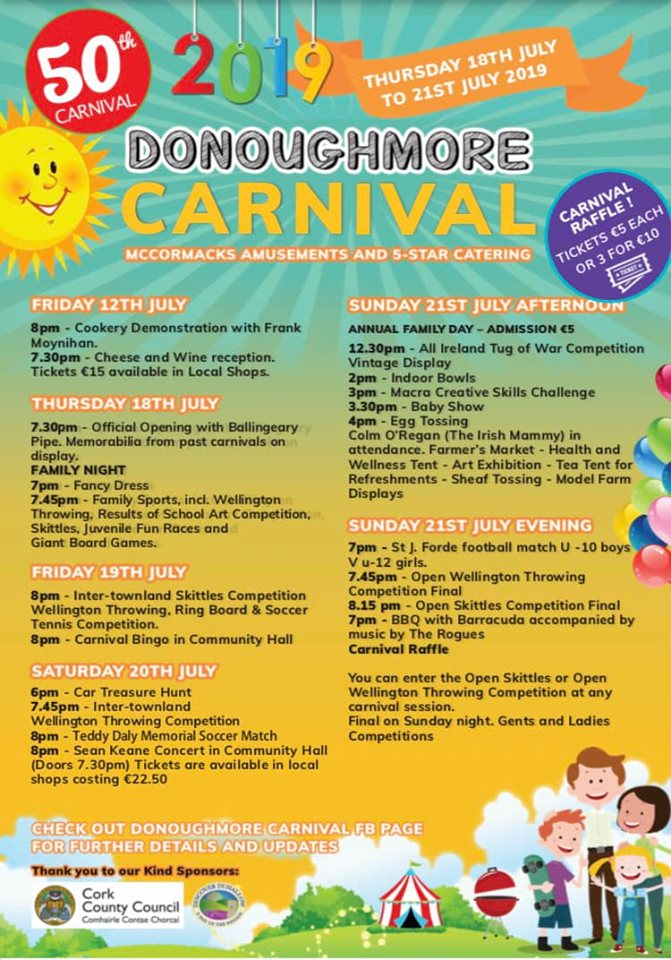 donoghmore carnival brochure