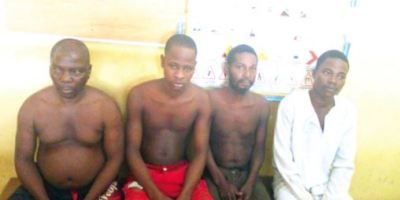 Police retrieve human head from shrine, arrest 4 suspects