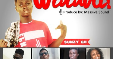 Download Sunzy Gh ft The Word - Waawu (Prod Massive Sound)