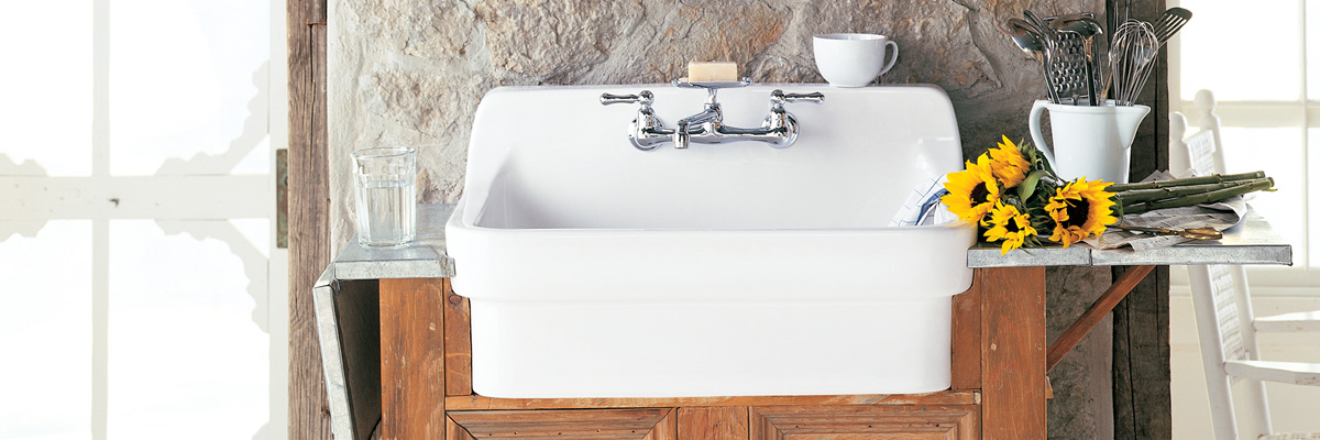 kitchen refinished sink white farm house
