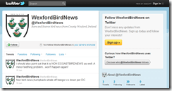 Bird news alerts for Wexford and the East Coast via Twitter