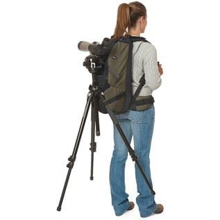 The Lowepro Scope Porter with tripod and scope attached