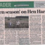 """Email to Cllr. John Sheahan re. """"Open Season"""" on Hen Harriers statement"""