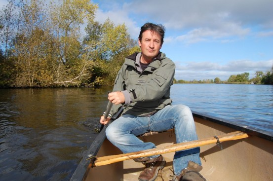 Colin Stafford-Johnson on a river in Ireland