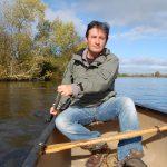 Colin Stafford-Johnson on a river in Ireland