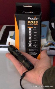 Fenix PD35 in the hand