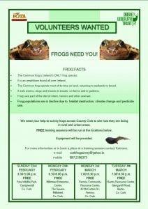 Cork Frog Survey Poster