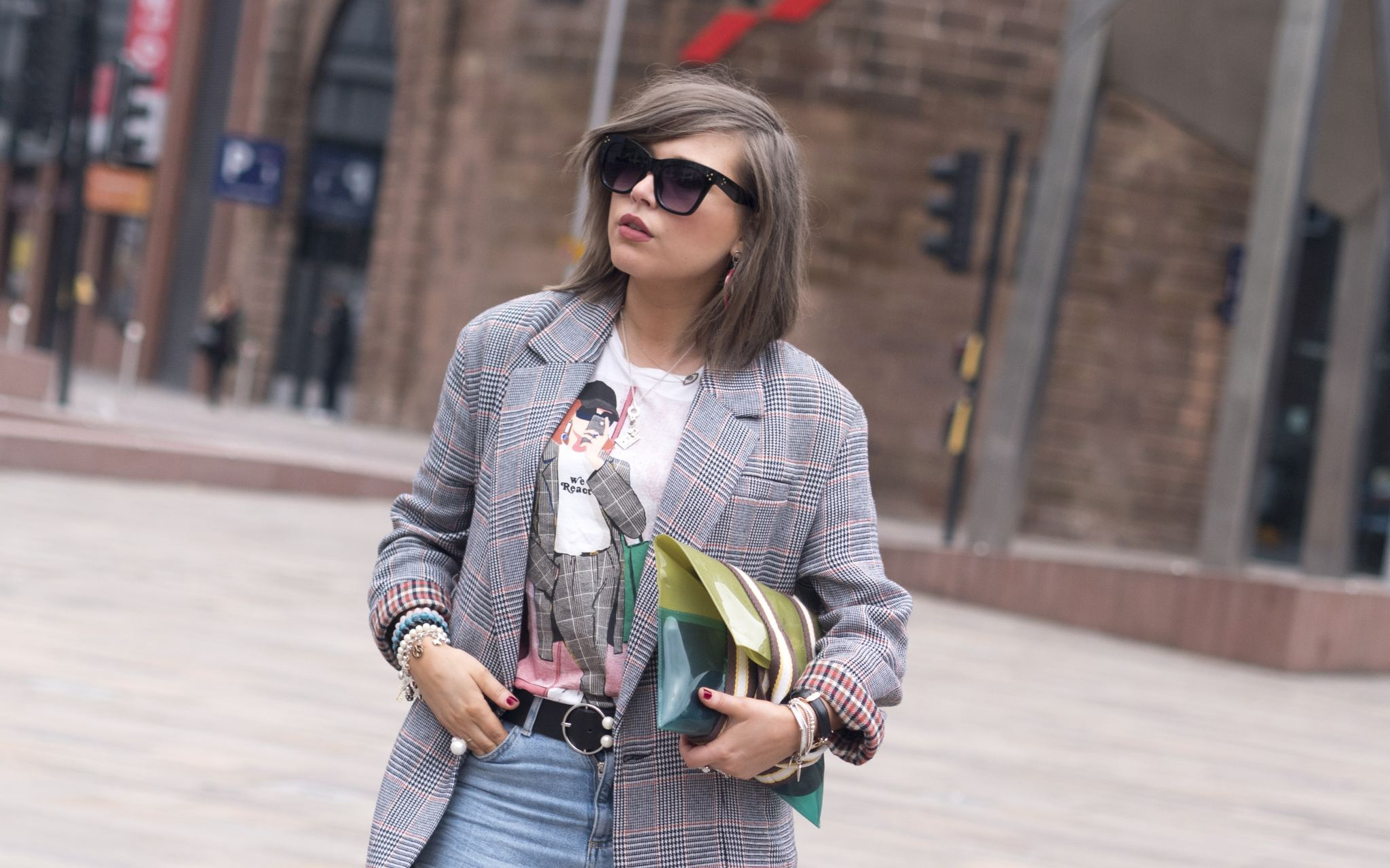 manchester fashion blogger , fashion blogger, celine sunglasses, oversized zara blazer, dress scandinavian, pernille teisbaek ,manchester