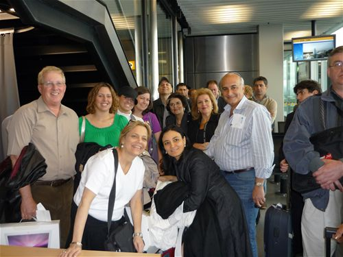 Members of Life in a Jar were approached in Amsterdam by a group from Panama going to Poland for the March of the Living. They had previously heard Irena's courageous story and were overjoyed to see us and hear more about this beautiful woman!