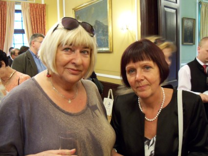 The organizer of the Irena Sendler Awards in Warsaw – August 17, 2011, with the recipient of the $5,000 Irena Sendler Award prize. Ms. Ference is a history teacher from Katowice.