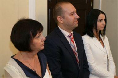 Grazyna Ferenc, Kety; Jakub Niewinski, Murowana Goslina; Malgorzata Rusilowicz. Three finalists for the Irena Sendler Award.