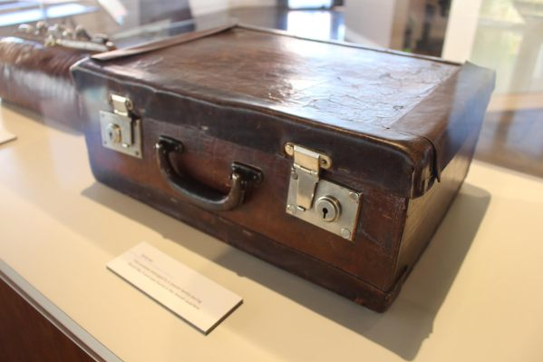 Suitcase from the Jewish Quarters in Poland.