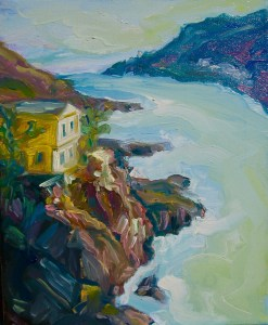 original oil painting by Irene Duma, of the Battery