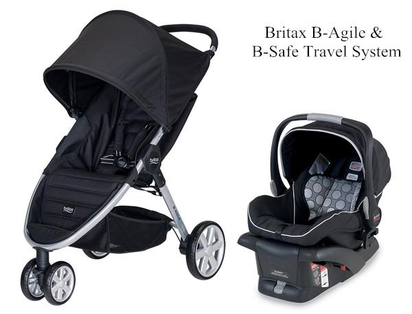單手秒收的嬰兒推車 Britax B-Agile (美規三輪) & B-Safe 提籃汽座
