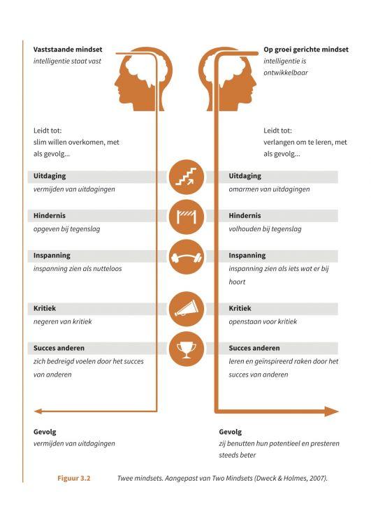 fixed mindset versus groei mindset - lef versus angst