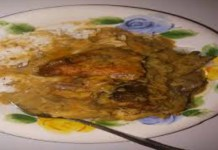 Peanut Butter soup with rice- A Sierra Leonean