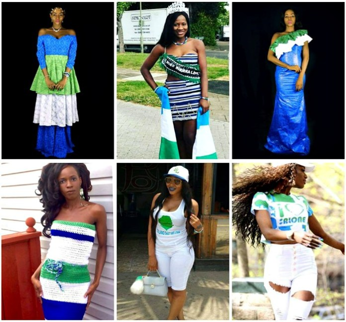 CELEBRATING SIERRA LEONE 56TH INDEPENDENCE 2017 - GREEN, WHITE AND BLUE FASHIONISTAS