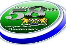 SIERRA LEONE CELEBRATES 58 YEARS OF SELF RULE: BY KEMOH SAIDU SESAY