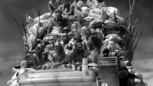 Teeming humanity ... a still from Incoming. Photograph: Richard Mosse/Jack Shainman Gallery/carlier|gebauer